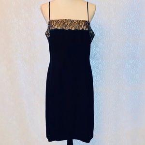 Liz Claiborne Night Lace Top Black Dress